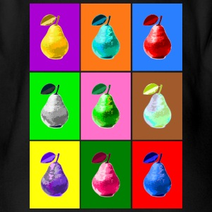 Pop Art Birne, Pop Art Pear Bodys Bébés - Body bébé bio manches courtes