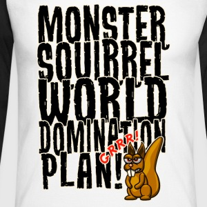 Monster Squirrel World Domination Langarmshirts - Männer Baseballshirt langarm