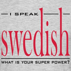 Super Power Swedish - T-shirt herr