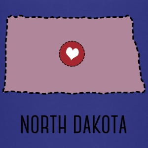 North Dakota State Herz Tee shirts - T-shirt Premium Enfant