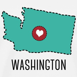 Washington State Herz T-shirts - Mannen Premium T-shirt