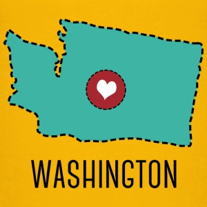 Washington State Herz T-shirts - Premium-T-shirt barn