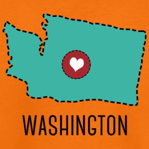 Washington State Herz Shirts - Teenage Premium T-Shirt