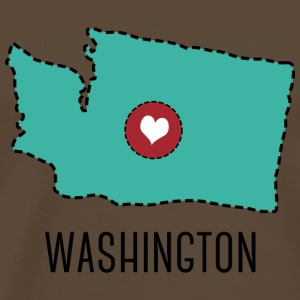 Washington State Herz T-Shirts - Men's Premium T-Shirt