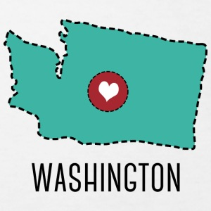 Washington State Herz T-Shirts - Kinder Bio-T-Shirt