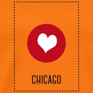 I Love Chicago T-skjorter - Premium T-skjorte for menn