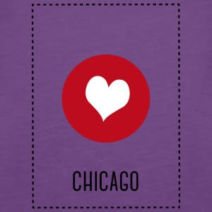 I Love Chicago Topy - Tank top damski Premium