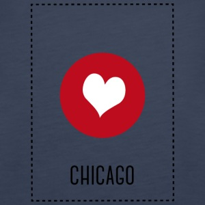 I Love Chicago Tops - Women's Premium Tank Top
