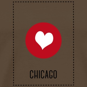I Love Chicago T-shirts - Herre premium T-shirt