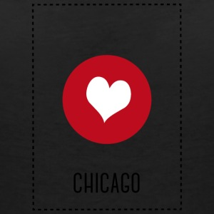 I Love Chicago T-shirts - Vrouwen T-shirt met V-hals