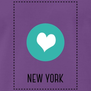 I Love New York T-shirts - Herre premium T-shirt