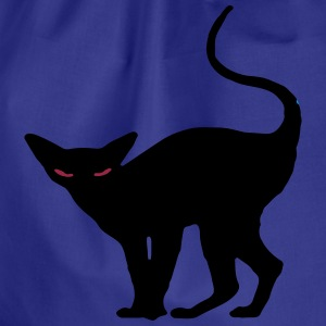 Creepy black haloween cat drawstring bag - Drawstring Bag