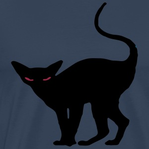Black Halloween cat t-shirt - Men's Premium T-Shirt