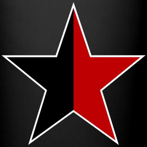 Anarchie Stern - schwarz-rot