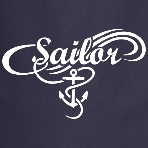 Sailor Waves Anchor Sail Design  Aprons - Cooking Apron