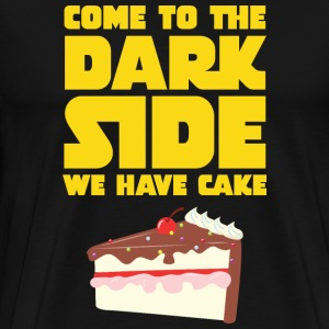Come To The Dark Side - We Have Cake T-shirts - Herre premium T-shirt