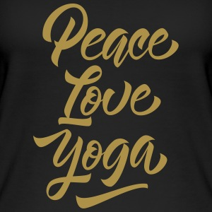 Peace Love Yoga Tops - Frauen Bio Tank Top