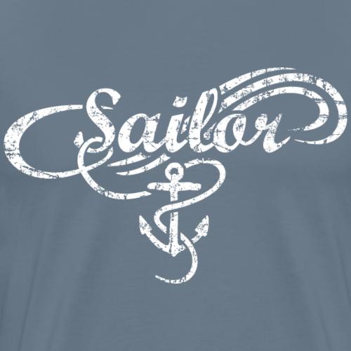 Sailor Waves Anker Vintage Segel Design (Weiß)
