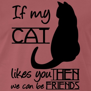 If my Cat likes you, THEN we can be Friends T-Shirts - Men's Premium T-Shirt