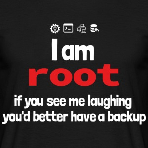 root backup - laughing - Männer T-Shirt