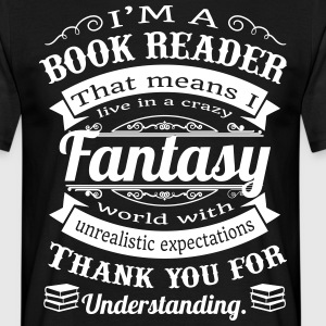 books fantasyworld - Männer T-Shirt