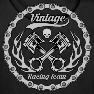 vintage racing team 10 Sweat-shirts - Sweat-shirt à capuche Premium pour hommes