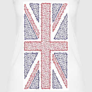 Curvy Union Jack T-Shirt - Vertical Print - Women's Organic Tank Top