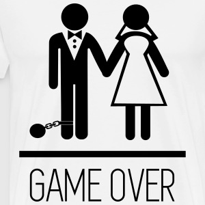 Game over - Stag do - Hen party - Funny T-shirts - Herre premium T-shirt