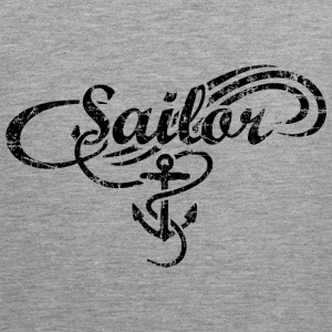 Sailor Waves Anchor Vintage Sail Design (Black) Sports wear - Men's Premium Tank Top