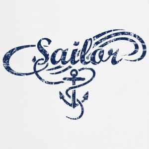 Sailor Waves Anchor Vintage Sail Design (Navy)  Aprons - Cooking Apron