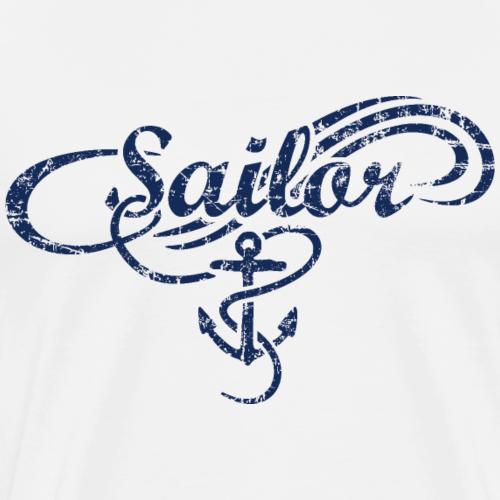Sailor Waves Anker Vintage Segel Design (Navy)