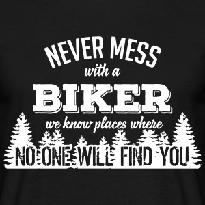 never mess with a biker T-shirts - Herre-T-shirt
