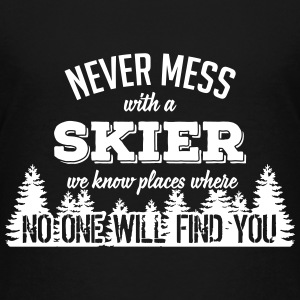 never mess with a skier T-Shirts - Teenager Premium T-Shirt