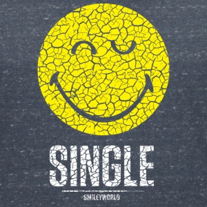 SmileyWorld Single Zwinkernder Solo Smiley - Frauen T-Shirt mit V-Ausschnitt