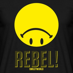SmileyWorld Rebel Upside Down Smiley - Men's T-Shirt