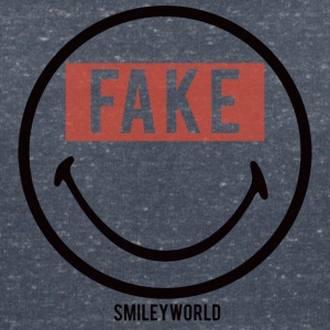 SmileyWorld Fake Smile - T-shirt med v-ringning dam