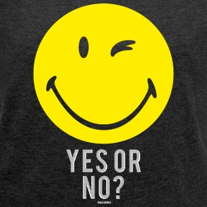 SmileyWorld Yes or No? Smiley - Dame T-shirt med rulleærmer