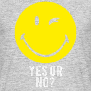 SmileyWorld Yes or No? Smiley - T-shirt herr