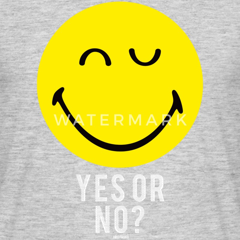 SmileyWorld Yes Or No - Männer T-Shirt