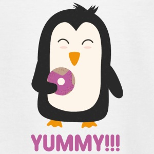 Penguin with a donut Shirts - Teenage T-shirt