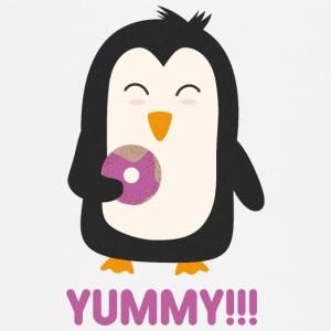 Penguin with a donut Baby Long Sleeve Shirts - Baby Long Sleeve T-Shirt
