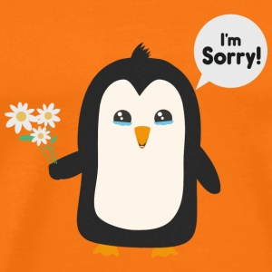 Penguin apology T-Shirts - Men's Premium T-Shirt