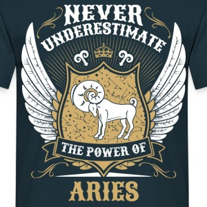 Never Underestimate The Power Of Aries  T-Shirts - Men's T-Shirt