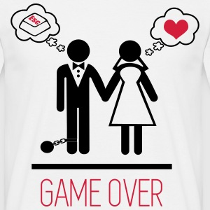 T-shirt Couple Game over - T-shirt Homme