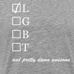 Lesbian and pretty damn awesome - Herre premium T-shirt