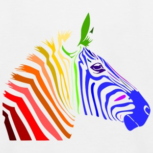 Zebra; Punk Zebra; Rainbow Zebra Shirts - Kids' Baseball T-Shirt