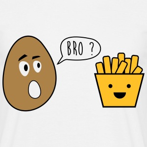 bro french fries - funny, - joke - brother T-Shirts - Men's T-Shirt