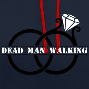 Dead Man Walking Ring Hoodies & Sweatshirts - Contrast Colour Hoodie