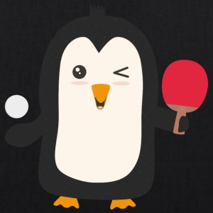 Penguin plays table tennis Bags & Backpacks - EarthPositive Tote Bag