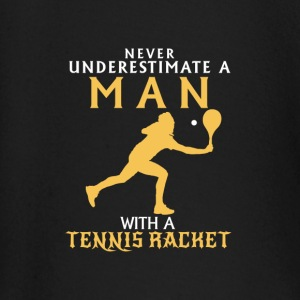 NEVER UNDERESTIMATE A MAN WITH TENNIS RACKETS Baby Long Sleeve Shirts - Baby Long Sleeve T-Shirt